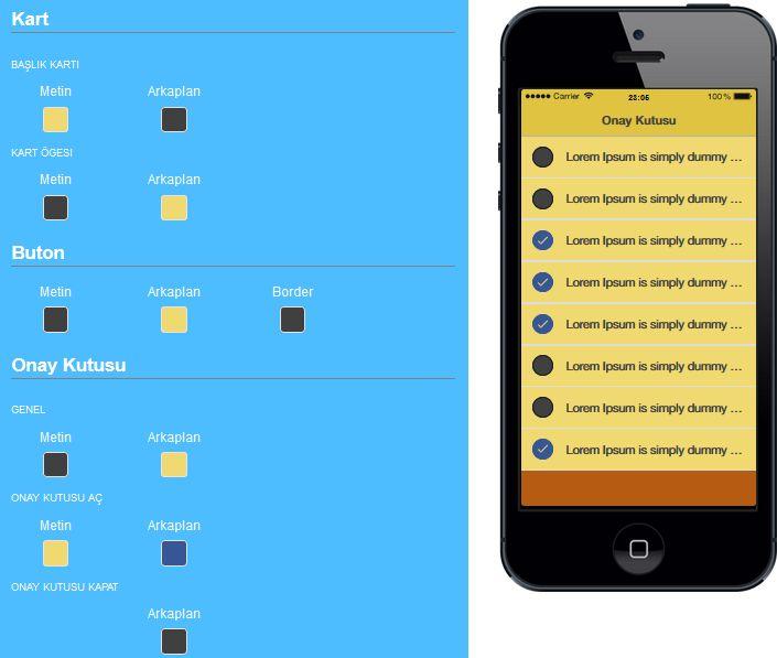 Mobil Uygulama Renk Tasarımı, Android Mobil Uygulama Renk Tasarımı, iOS Mobil Uygulama Renk Tasarımı, Mobil Uygulama Dizayn,Mobil Uygulama Düzenleme