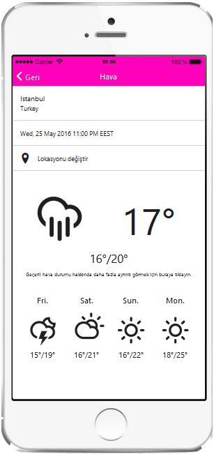 Mobil Uygulamaya Hava Durumu Ekleme, Mobil Uygulama Hava Durumu Özelliği, Mobil Uygulamaya Hava Durumu Nasıl Eklenir, Mobil Uygulama Anlık Hava Durumu