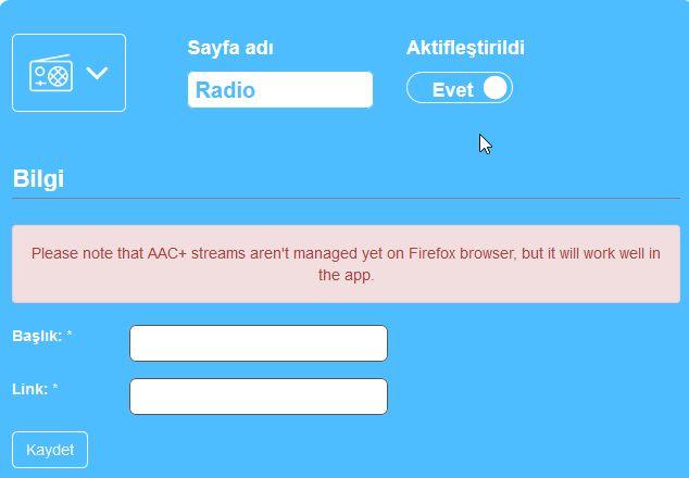 Radyo Uygulaması Yapmak