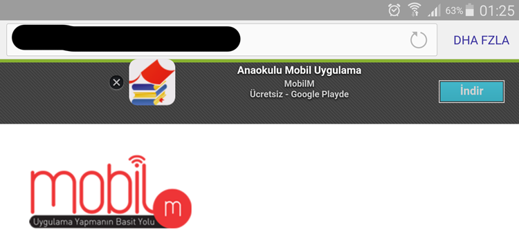 Websitenizde Mobil Uygulamanızın Reklamını Yapın, Mobil Uygulamanızı Tanıtın, Mobil Kullanıcılar için websitesine uygulama indirme yönlendirmesi