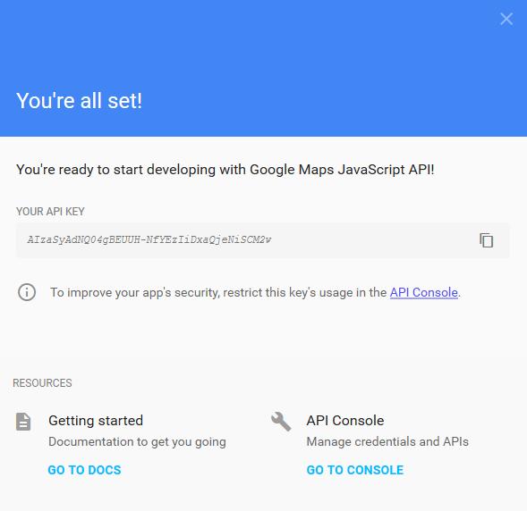 Google Haritalar Javascript API Key Oluşturma